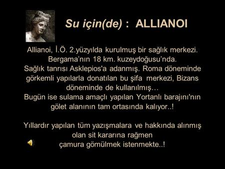 Su için(de) : ALLIANOI Allianoi, İ. Ö. 2