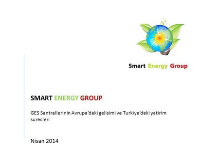 SMART ENERGY GROUP Nisan 2014