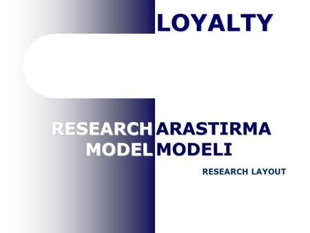 RESEARCHMODEL RESEARCH LAYOUT ARASTIRMAMODELI LOYALTY.