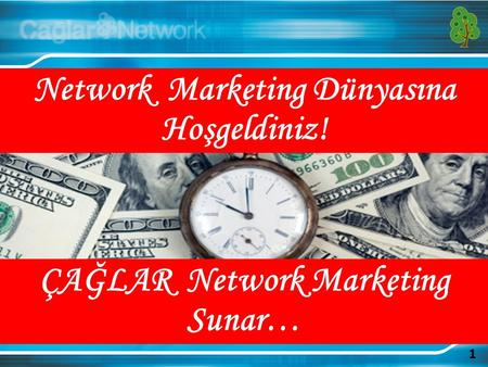 1 Network Marketing Dünyasına Hoşgeldiniz! ÇAĞLAR Network Marketing Sunar…