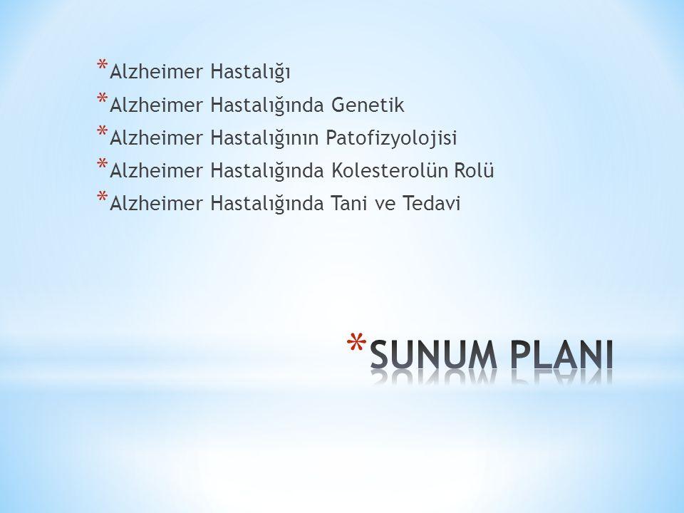 * Alzheimer hastalığı dünyada 15 milyondan fazla insanı etkileyen nörodejeneratif bir hastalık olup, * Beyin hücrelerinde harabiyete neden olarak hafıza kaybı, çalışma hayatı, hobiler ve sosyal ilişkilerde bozulmaya yol açar.