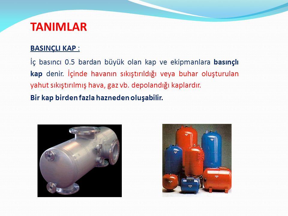 Her türlü basınçlı kap ve bunlarla bağlantılı boru donanımı, emniyet donanımları ve basınçlı aksesuarlar anlamına gelmektedir.