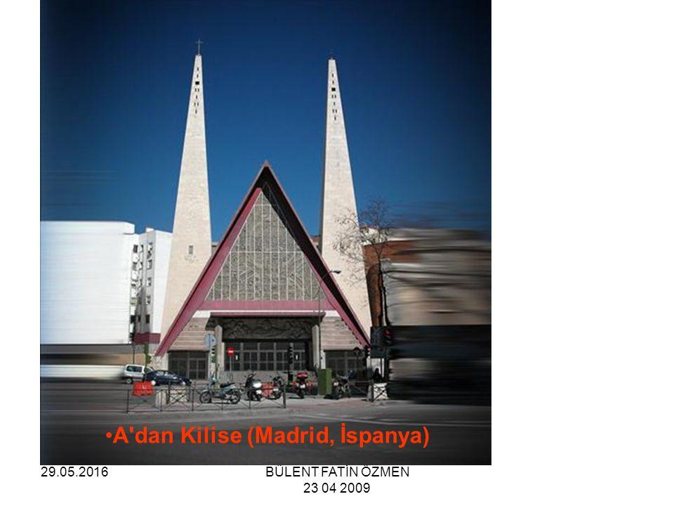 29.05.2016BÜLENT FATİN ÖZMEN 23 04 2009 Yunan Ortadoks Kilisesi Frank Lloyd Wright tarafından 1956 da inşasına başlandı ve 1961 de tamamlandı.