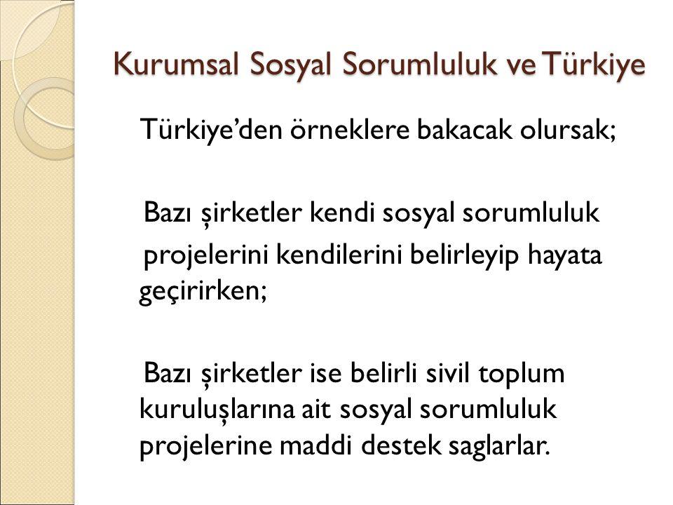 Kurumsal Sosyal Sorumluluk ve Türkiye Kendi Sosyal Sorumluluk Projelerini üreten şirketlerden Turkcell; Kurumsal Sosyal Sorumluluk Turkcell'de işimizden ayrı olarak düşündügümüz faaliyetler degil, işimizin kendisidir.