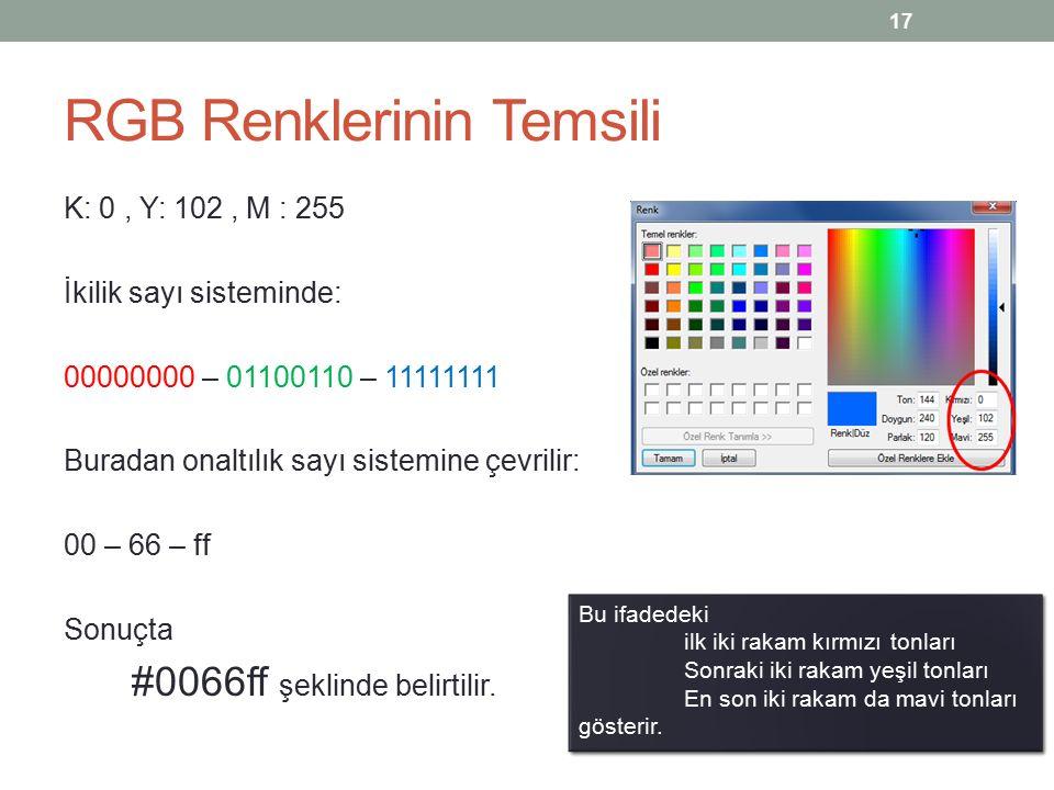 Bitmap Grafikleri Görüntü bilgisini sayısal bir ortamda saklamak için, görüntüyü oluşturan her pikselin renk değeri ve grafik üzerindeki konum bilgisine sahip olmak gerekir.
