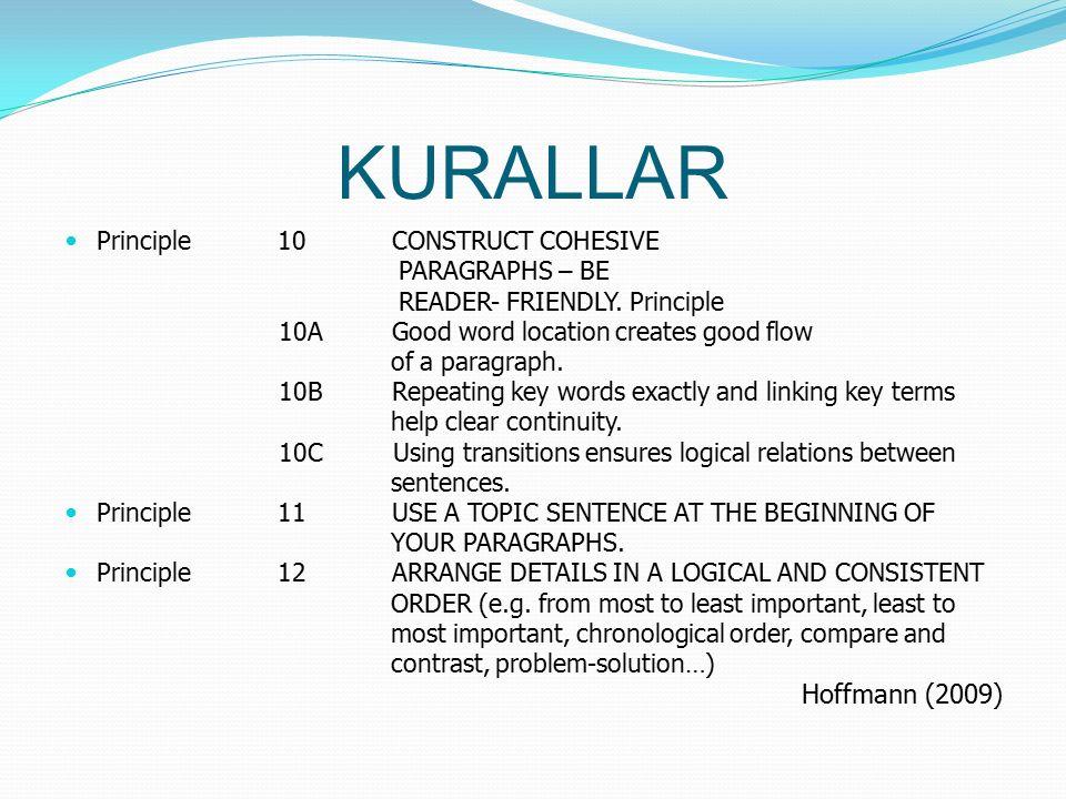 Principle 13MAKE SURE YOUR PARAGRAPH IS COHERENT.