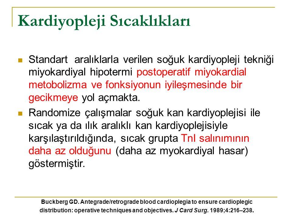 2009 yılında yayınlanmış meta-analiz çalışması 5879 hasta dahil edilmiş 2944 sıcak kardiyopleji 2935 soğuk kardyopleji 2007 soğuk kan 928 soğuk kristalloid