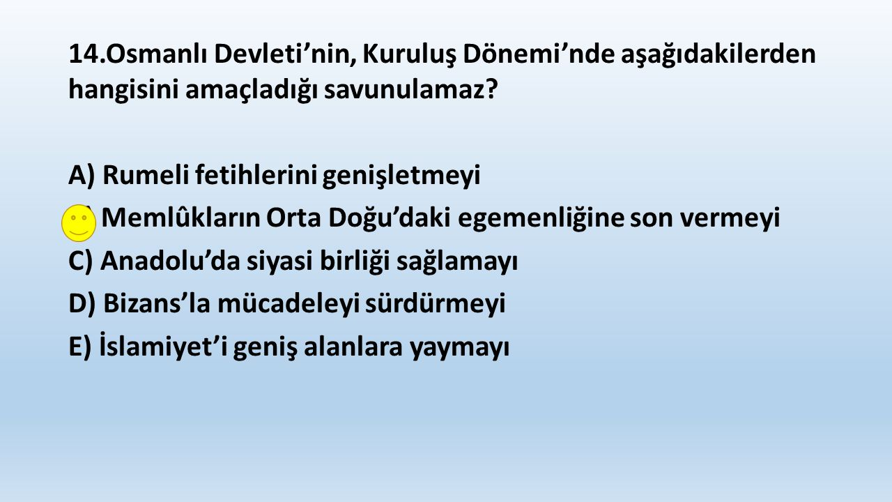 15.Osmanlı Devleti'nde XV.ve XVI.