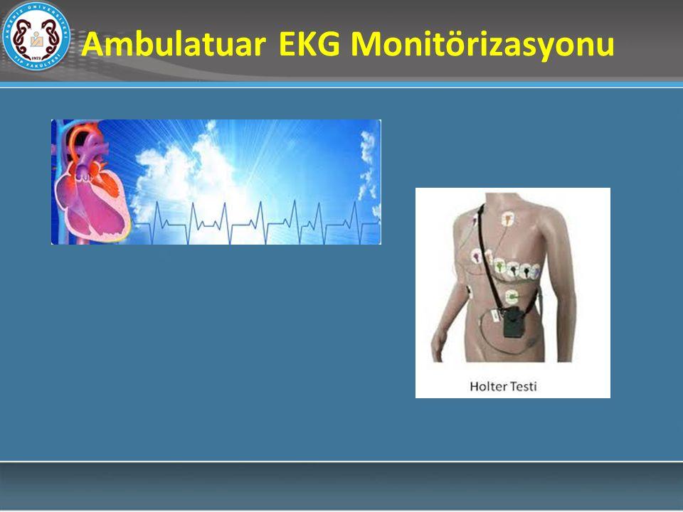 Ambulatuar EKG değerlendirirken, hiperventilasyon, sempatik tonus değişiklikleri, çeşitli ilaç kullanımı ve elektrolit bozuklukları gibi birçok faktör EKG kaydını etkileyebileceği göz önünde tutulmalıdır.