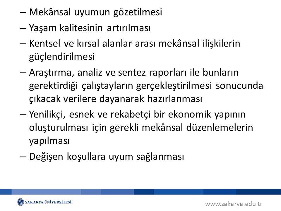 www.sakarya.edu.tr Planın Unsurları (MPYY m.