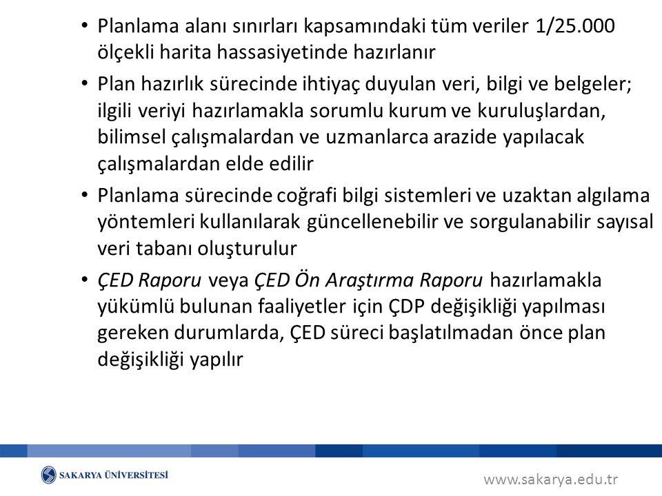 www.sakarya.edu.tr ÇDP'nda Revizyon (MPYY m.