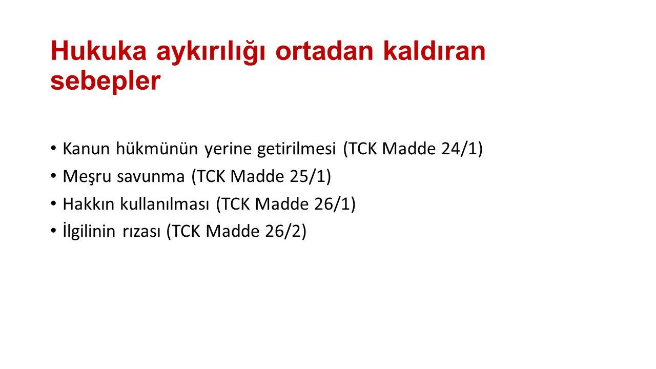 Hukuka aykırı emir Türk Ceza Kanunu (Madde 24/2-3-4) Hukuka aykırı olmayan emir her koşulda yerine getirilmelidir.