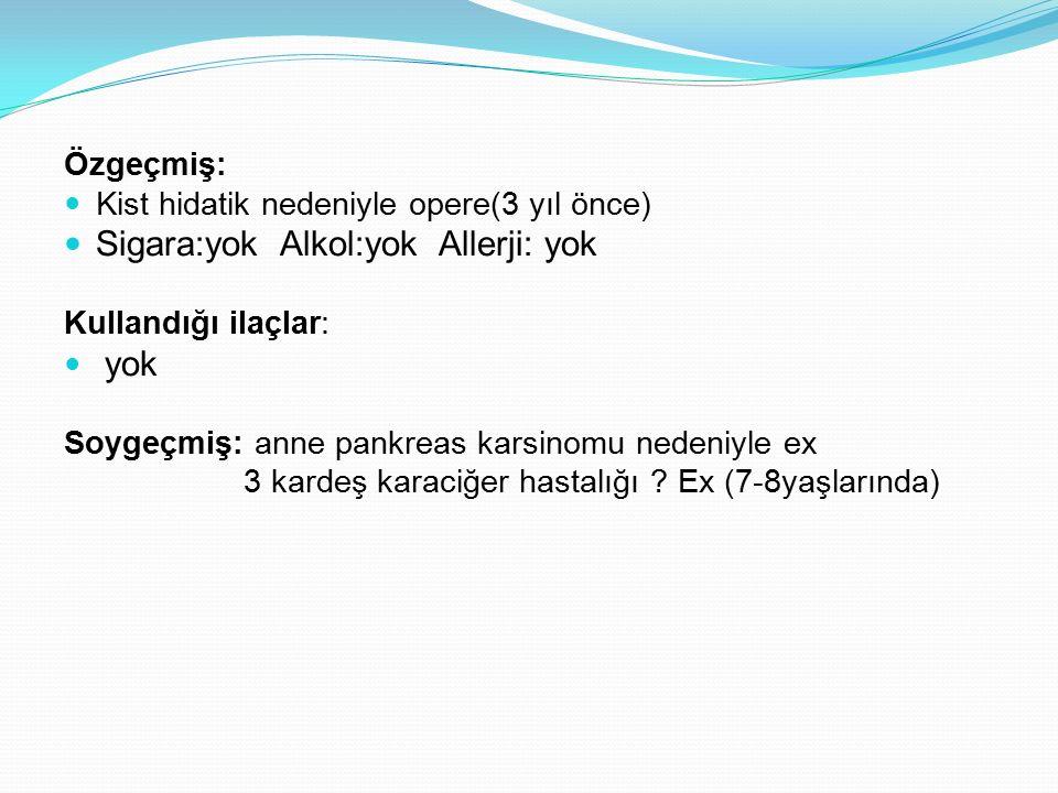 OLGU/ FM Genel durum orta bilinç açık, oryante, koopere Vital bulgular; SS: 22/dk Nabız:65/dk VI:36.8 KB:100/60 mmHg