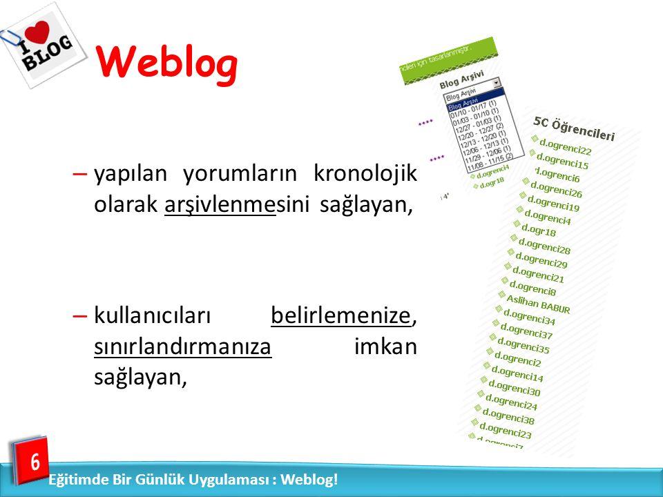 Weblog »diğer web sayfalarına, videolara vb.