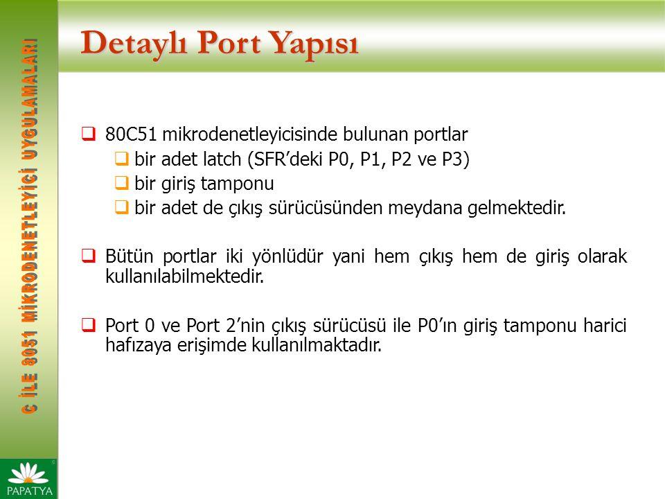 Detaylı Port Yapısı