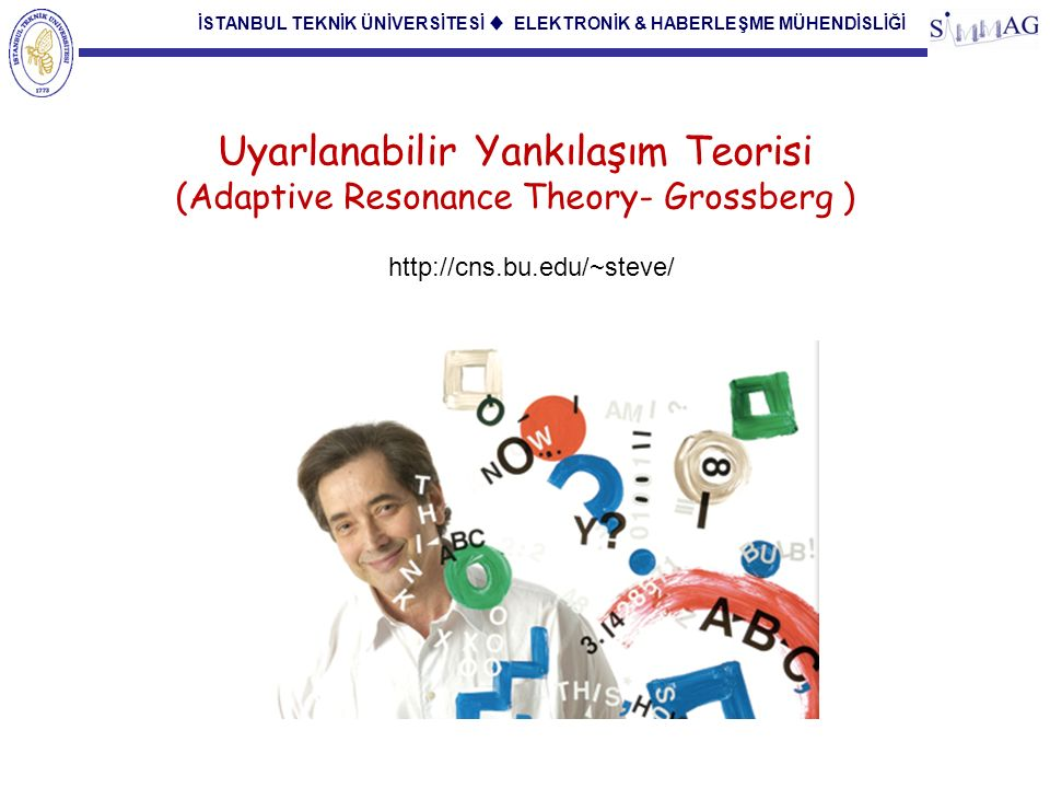 İSTANBUL TEKNİK ÜNİVERSİTESİ ♦ ELEKTRONİK & HABERLEŞME MÜHENDİSLİĞİ 11 A crucial metatheoretical constraint is to insist upon understanding the behavioral data – which comes to us as static numbers or curves on a page – as the emergent properties of a dynamical process which is taking place moment-by-moment in an individual mind.