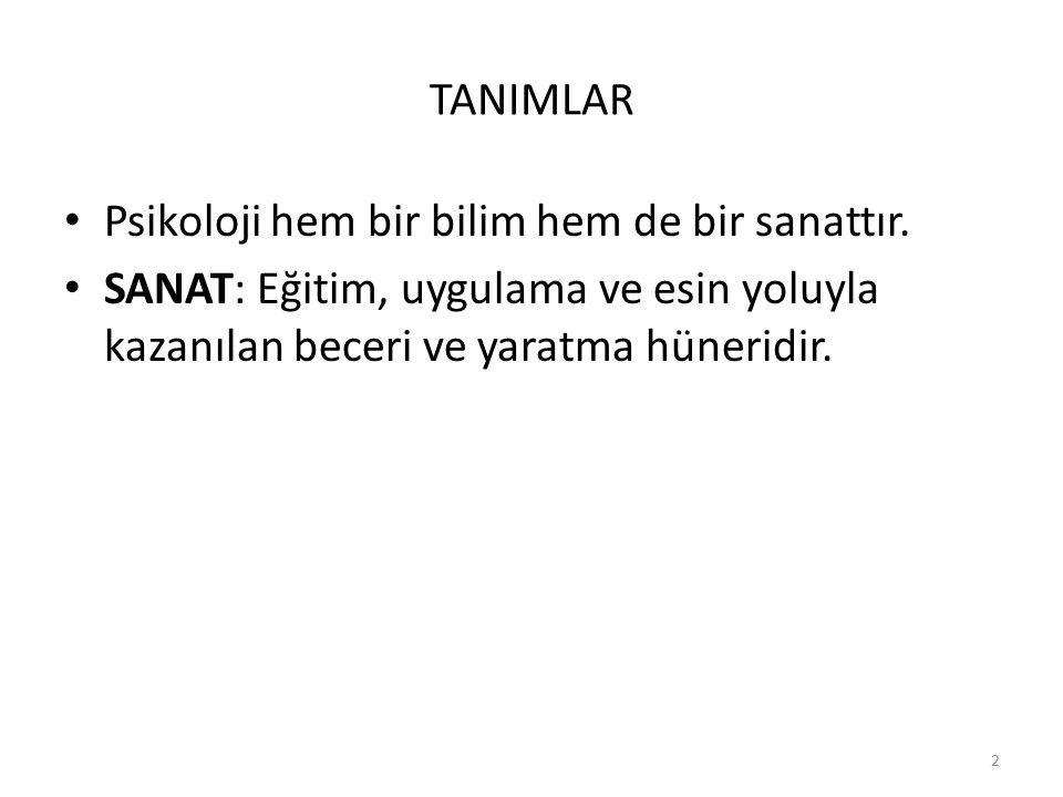 3 PSİKOLOJİNİN ALT DALLARI 1.