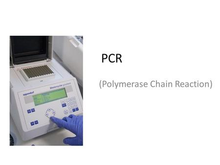 PCR (Polymerase Chain Reaction). PCR (Polymerase chain reaction) ya da polimeraz zincir reaksiyonu, moleküler biyolojide uygulanan bir teknik olup,