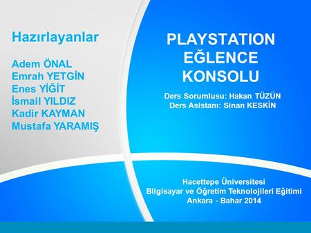 PLAYSTATION EĞLENCE KONSOLU