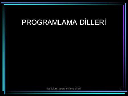 Pıc programlama dilleri