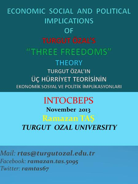 TURGUT OZAL UNIVERSITY