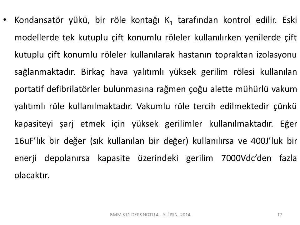 BMM 311 DERS NOTU 4 - ALİ IŞIN, 2014 Şekil 4.6 Trapezoidal defibrilatör dalga şekli 18