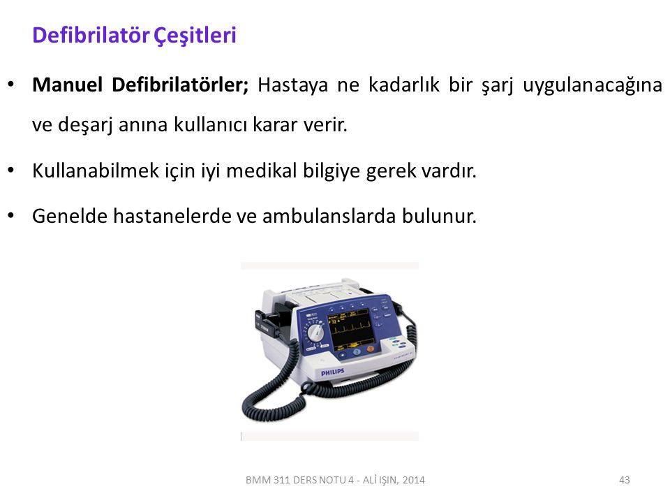 Otomatik Harici Defibrilatörler (AEDs); Bilgisayar teknolojisi ile donatılmış olan ve kalp ritmini analiz ederek ne zaman şok gerektiği konusunda kullanıcıyı yönlendiren cihazlardır.