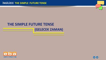 THE SIMPLE FUTURE TENSE