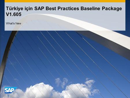 Türkiye için SAP Best Practices Baseline Package V1.605 What's New.