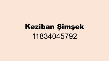 Keziban Şimşek 11834045792. THE REPORTED SPEECH with the reporting verb in the Past Tense