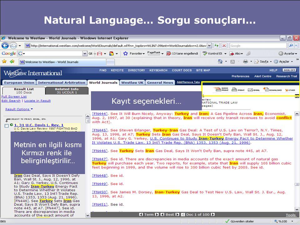 Natural Language… Sorgu sonuçları - Referans… Çalışmalarınızda kullanmak üzere bu metinden alıntı yapmak istiyorsunuz… Alıntı yapılacak kısmı seçin… Copy with reference Butonu size yardımcı olacaktır…