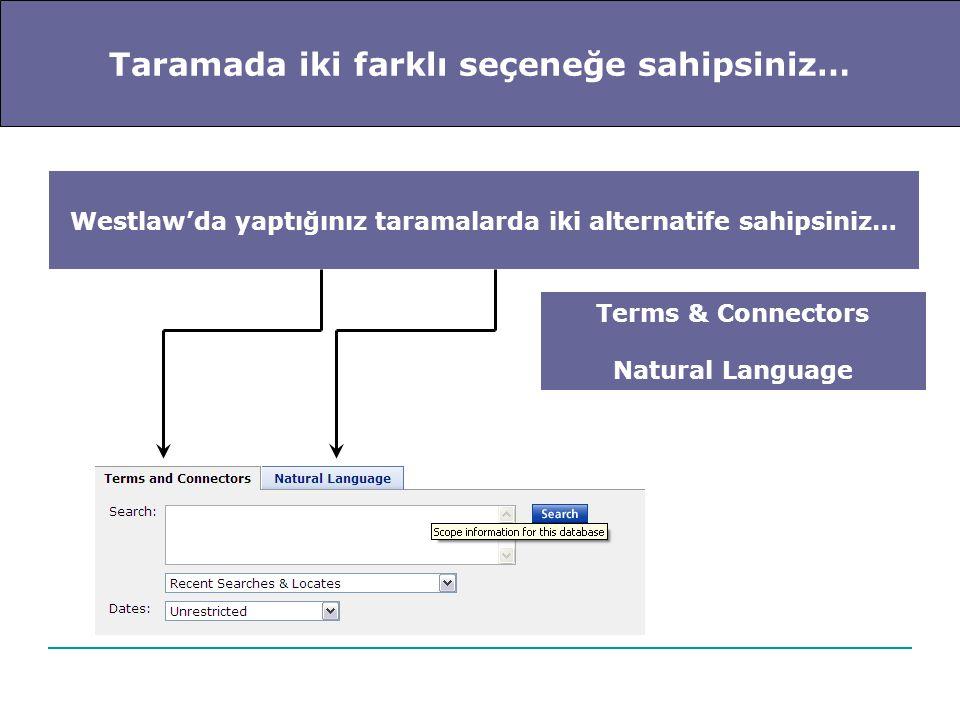 Natural Language… Sorgu cümlenizi aklınıza geldiği şekli ile sisteme girin… İşleç ya da bağlaç kullanmak zorunda değilsiniz… Sorgu sözcüklerinizi kontrol etmek isterseniz…