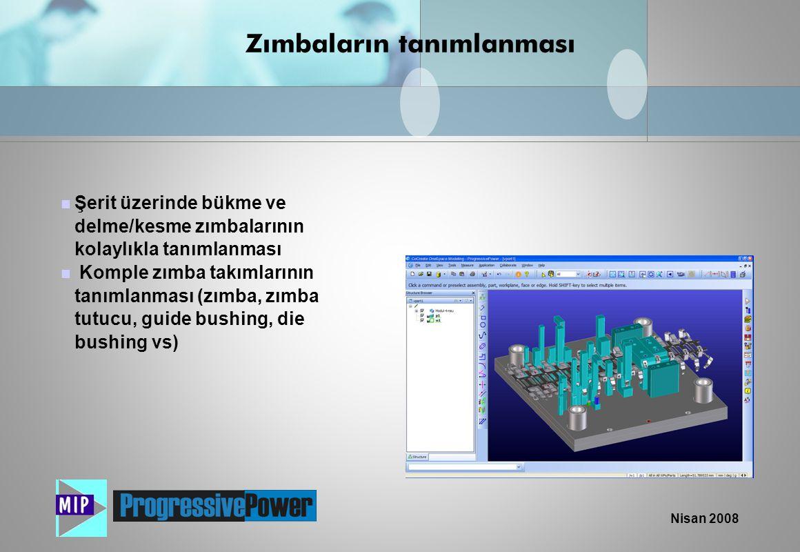 Nisan 2008  Kullanımı kolay olan ProgressivePower makro programlama dili sayesinde kalıp setleri otomatik olarak yaratılması  Pratikte kullanılan kalıplama bilgilerinin otomatik olarak uygulanması  Kalıp setlerinin hızlı yaratılması Kalıp seti tasarımı