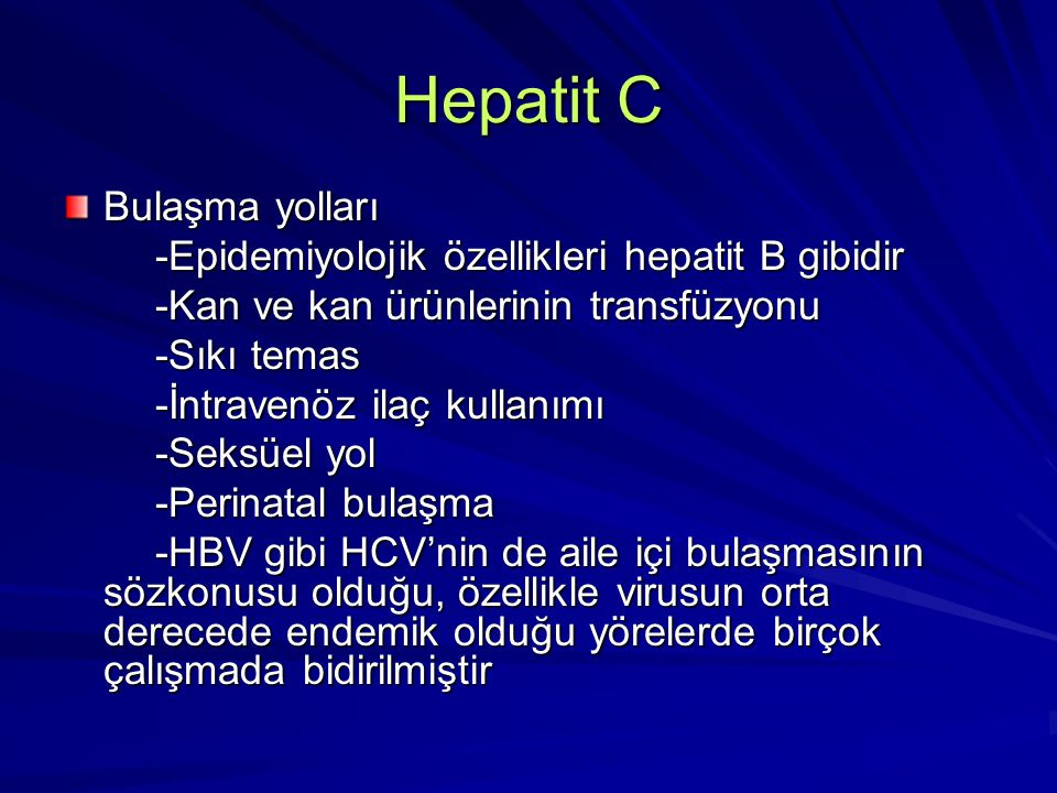 Hepatit D Delta virus inkomplet bir RNA virusudur Virusun üremesi için HBsAg'ye ihtiyaç olduğundan HBsAg negatif kişilerde hastalık meydana gelmez B hepatitinde olduğu gibi delta infeksiyonu da ilaç kullanıcıları, hemofililer ve multiple transfüzyon yapılanlarda sık görülür Tıbbi personel ve homoseksüellerde yaygın değildir Hastalığın epidemiyolojisi paranteral bulaştığını göstermektedir