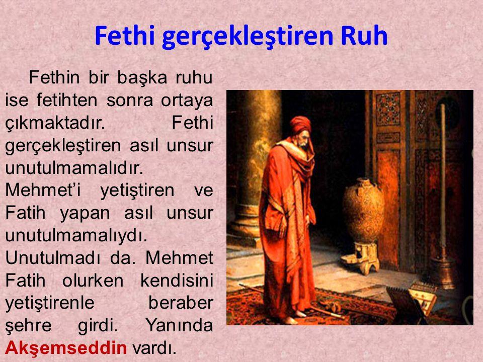 Fatih Sultan Mehmet Han'ın İstanbul'u fethettikten sonra Ayasofya'ya gidip iki rekat şükür namazı kıldıktan sonra Yerlere kapanan ahâli, rahip ve eski Ortodoks patriğini gördü.