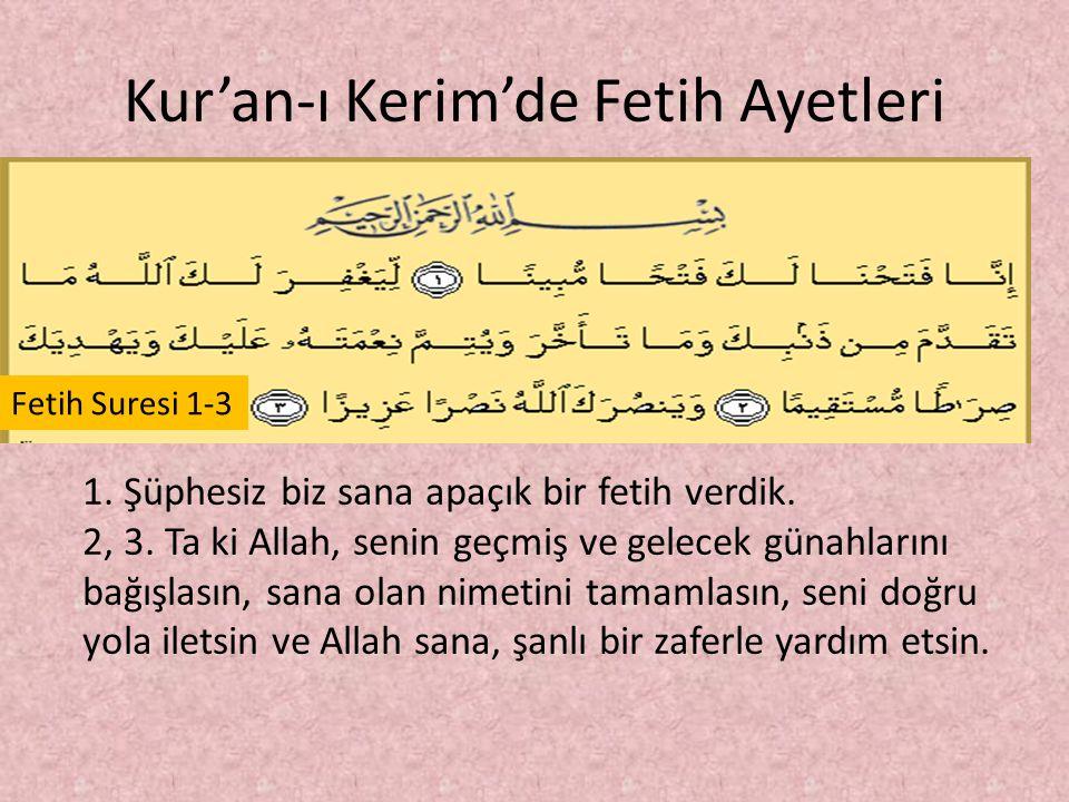 Kur'an-ı Kerim'de Fetih Ayetleri Kasas Suresi -85