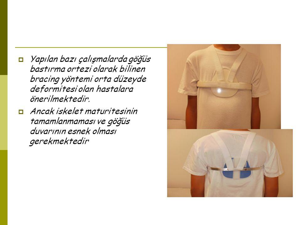 SONUÇ OLARAK….Göğüs deformiteleri olan hastalarda 1.