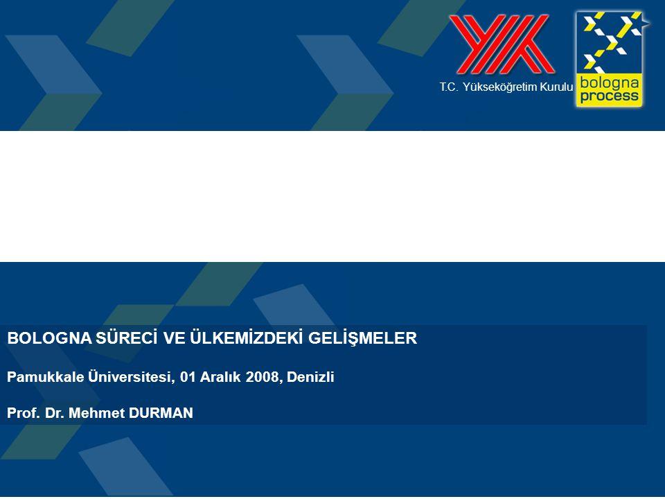 2 LİSBON VE BOLONYA SÜREÇLERİ Avrupa Yükseköğretim Alanını yeniden yapılandırmaktadır.