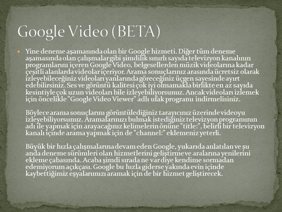  Burada en büyük yanılgı google'ı sadece arama motoru olarak görmek, google internet üzerinde bir çok web sitesinin esas sahibi, youtube, google plus bu sitelerden sadece bazıları.