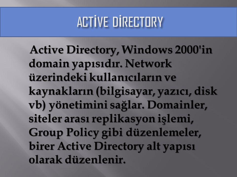 Windows 2000 içinde sertifika servisleri aracılığıyla kendi genel anahtar (public key) alt yapınızı yaratabilirsiniz.