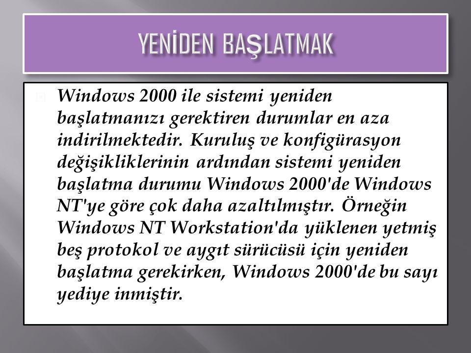  Windows Installer uygulamaların doğru olarak yüklenmesini ve kaldırılmasını sağlar.