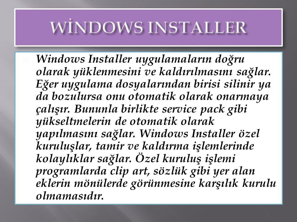 Windows 2000'in Bazi Görsel Özellikleri