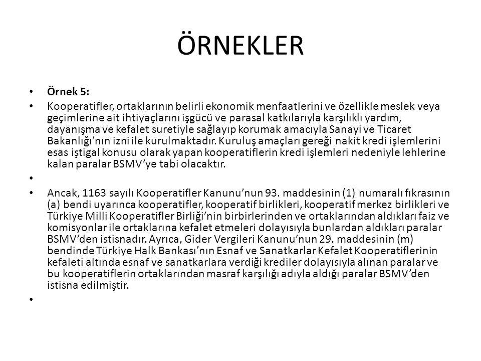 VOB-BSMV İSTİSNASI • 2.
