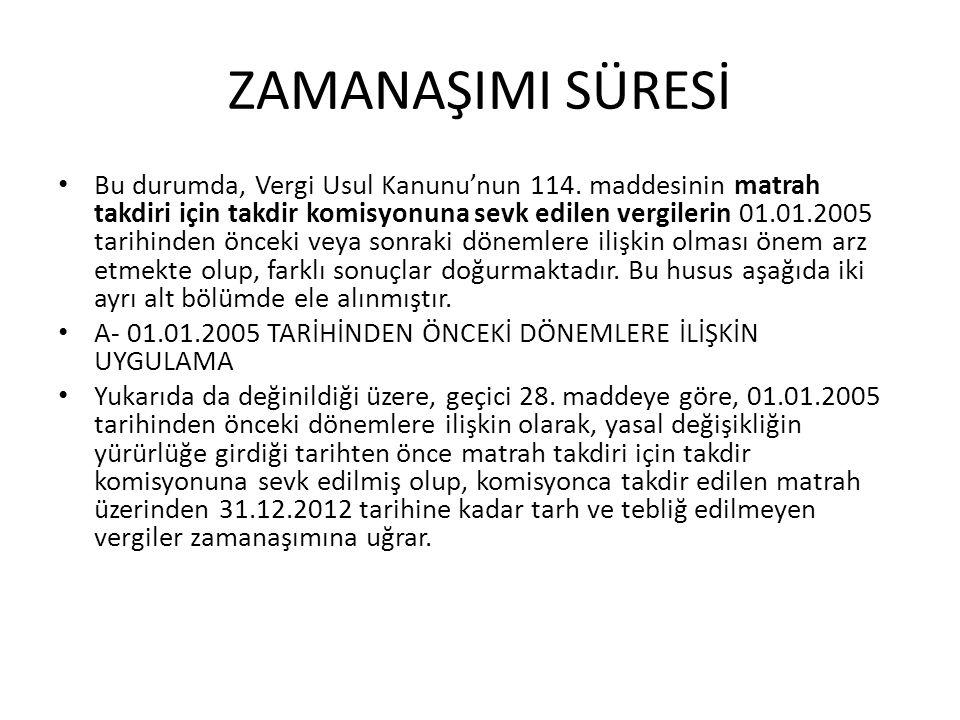 ZAMANAŞIMI SÜRESİ • Söz konusu hüküm, 374.