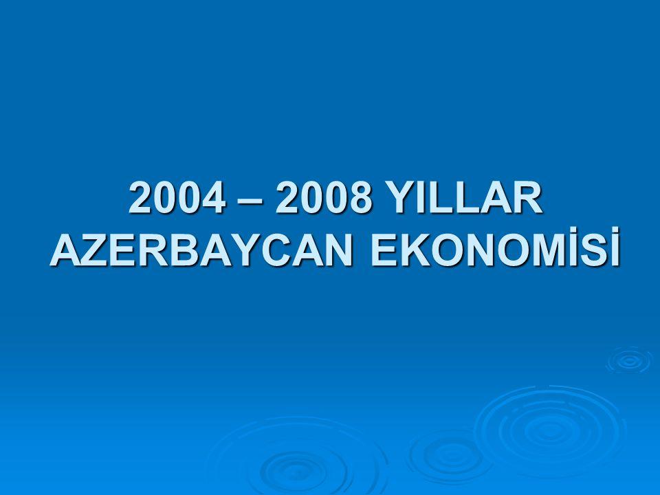 2004 – 2008 YILLAR AZERBAYCAN EKONOMİSİ