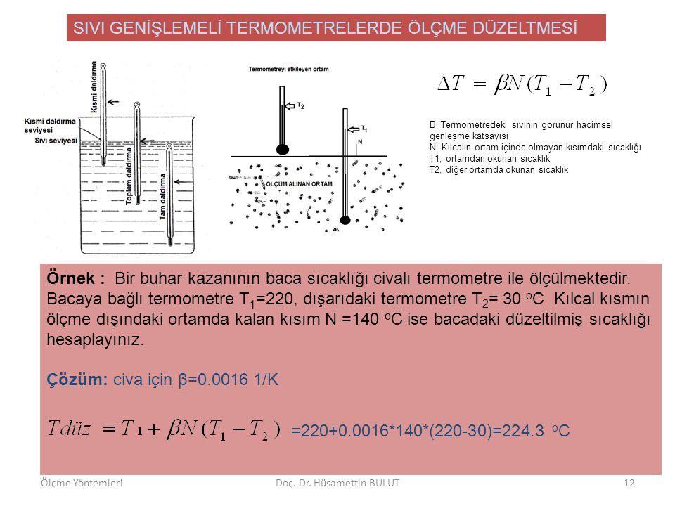 BASINÇ TERMOMETRELERİ •Gaz doldurulmuş basınç termometreleri •Sıvı doldurulmuş basınç termometreleri •Sıvı/gaz doldurulmuş basınç termometreleri İdeal gaz termometreleri ile aynıdır.