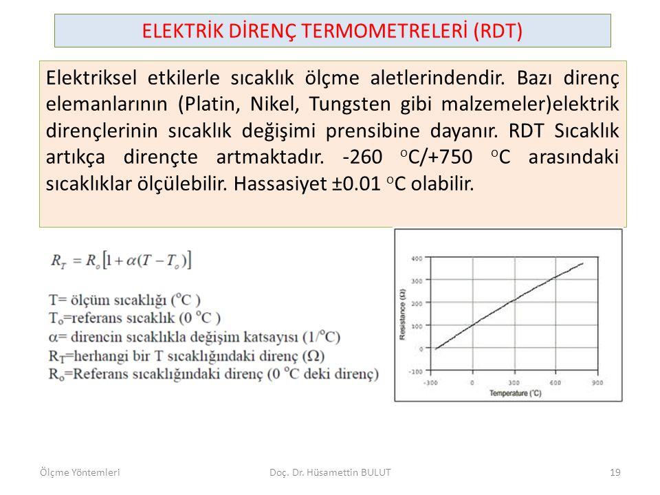 Direnç termometrelerinin fiyatları, termoelemanlara göre daha pahalı olup, tepki zamanları da daha uzundur.