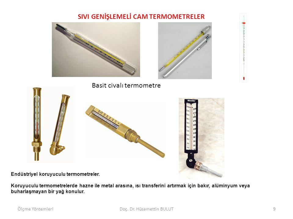 SIVI GENİŞLEMELİ CAM TERMOMETRELER Sıvı genişlemeli elektrik kontakt termometrelerle sıcaklık kontrolu yapılabilir.