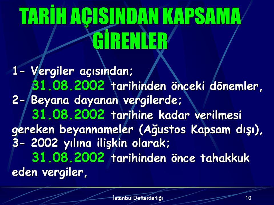 İstanbul Defterdarlığı11 Emtia, Emtia, Makine, Makine, Teçhizat, Teçhizat, Demirbaşlar, Demirbaşlar, STOK BEYANI AÇISINDAN KAPSAMA GİRENLER STOK BEYANI AÇISINDAN KAPSAMA GİRENLER