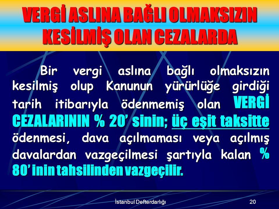 İstanbul Defterdarlığı21 Örnek Haziran 2001'de yapılan bir denetimde, X A.Ş.'nin belirlenen muhasebe standartlarına ve tek düzen hesap planına uymadığı gerekçesi ile VUK 353/6 maddesindeki 850.000.000.-TL özel usulsüzlük cezası kesilmiştir.Mükellef bu borcu ödememiştir.